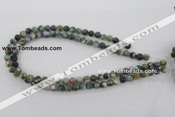 CAA701 15.5 inches 8mm round tree agate gemstone beads wholesale