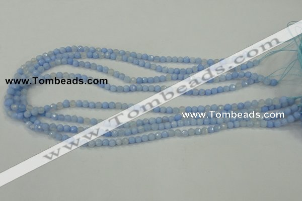 CAA734 15.5 inches 4mm faceted round blue lace agate beads wholesale