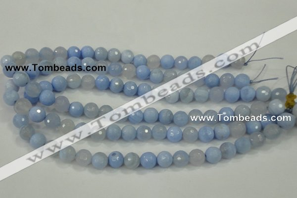 CAA737 15.5 inches 10mm faceted round blue lace agate beads wholesale