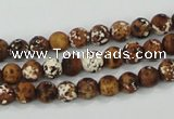CAA750 15.5 inches 8mm round wooden agate beads wholesale