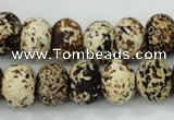 CAA755 15.5 inches 10*14mm rondelle wooden agate beads wholesale