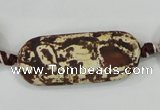 CAA756 15.5 inches 16*40mm rectangle wooden agate beads wholesale