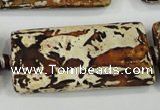 CAA757 15.5 inches 21*41mm rectangle wooden agate beads wholesale
