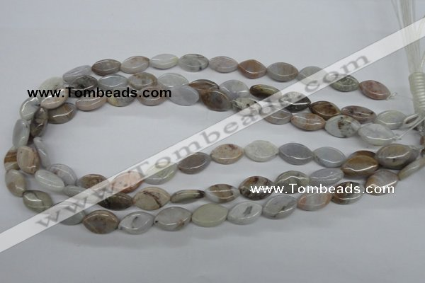 CAA771 15.5 inches 10*16mm marquise New Brazilian agate beads