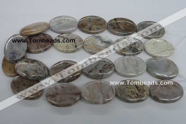 CAA776 15.5 inches 25*35mm oval New Brazilian agate beads