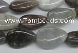 CAA777 15.5 inches 13*18mm flat teardrop New Brazilian agate beads