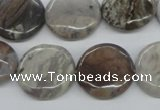 CAA778 15.5 inches 20mm flat round New Brazilian agate beads