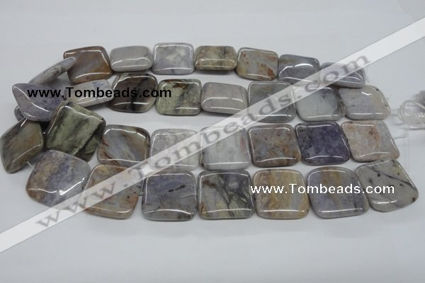 CAA780 15.5 inches 25*25mm square New Brazilian agate beads