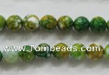 CAA790 15.5 inches 8mm faceted round fire crackle agate beads