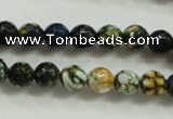 CAA792 15.5 inches 8mm faceted round fire crackle agate beads
