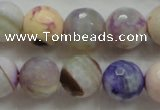CAA809 15.5 inches 14mm faceted round fire crackle agate beads