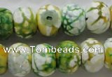 CAA830 15.5 inches 12*16mm faceted rondelle fire crackle agate beads