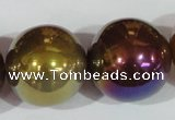 CAA877 15.5 inches 25mm round AB-color red agate beads