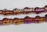 CAA881 15.5 inches 8*12mm pear-shaped AB-color red agate beads
