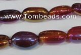 CAA883 15.5 inches 11*17mm oval AB-color red agate beads
