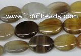 CAA895 15.5 inches 12*15mm oval agate gemstone beads wholesale