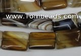 CAA898 15.5 inches 12*16mm rectangle agate gemstone beads wholesale