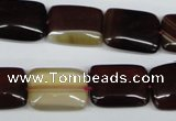 CAA899 15.5 inches 13*18mm rectangle agate gemstone beads wholesale