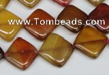 CAA902 15.5 inches 14*14mm diamond agate gemstone beads wholesale