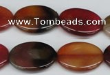 CAA904 15.5 inches 18*25mm oval agate gemstone beads wholesale