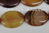 CAA905 15.5 inches 22*30mm oval agate gemstone beads wholesale