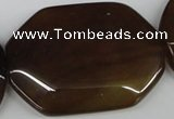CAA914 15.5 inches 38*50mm freefrom agate gemstone beads