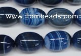 CAA931 15.5 inches 13*18mm egg-shaped agate gemstone beads