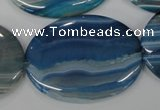 CAA934 15.5 inches 30*40mm oval agate gemstone beads