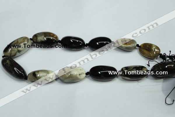 CAA978 15*25mm � 17*30mm nuggets natural fossil wood agate beads