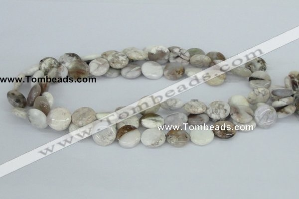 CAB101 15.5 inches 16mm flat round natural brazil agate beads
