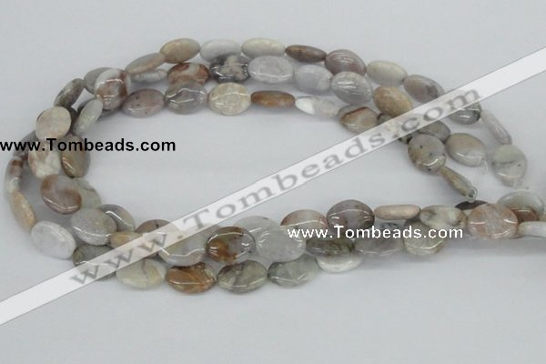 CAB104 15.5 inches 12*16mm oval natural brazil agate gemstone beads