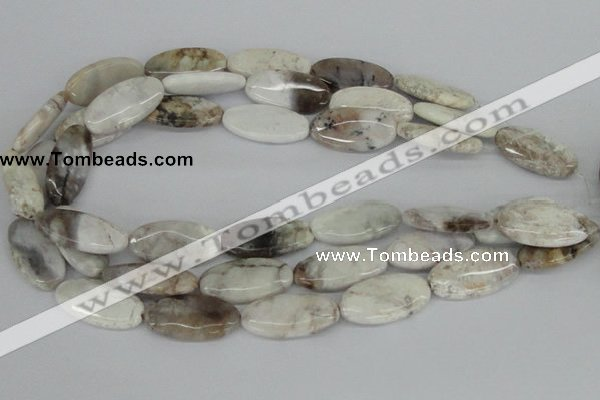 CAB105 15.5 inches 15*30mm oval natural brazil agate gemstone beads
