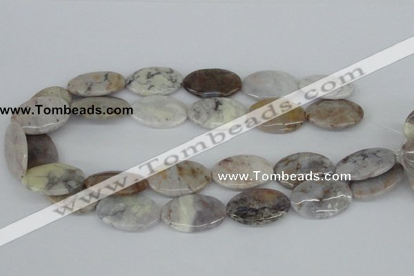 CAB106 15.5 inches 20*30mm oval natural brazil agate gemstone beads