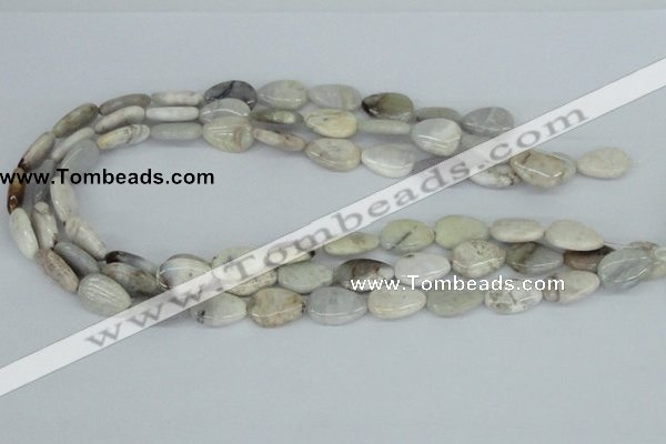 CAB108 15.5 inches 12*17mm flat teardrop natural brazil agate beads