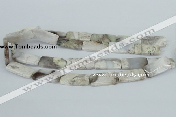 CAB113 15.5 inches 15*30mm rectangle natural brazil agate beads