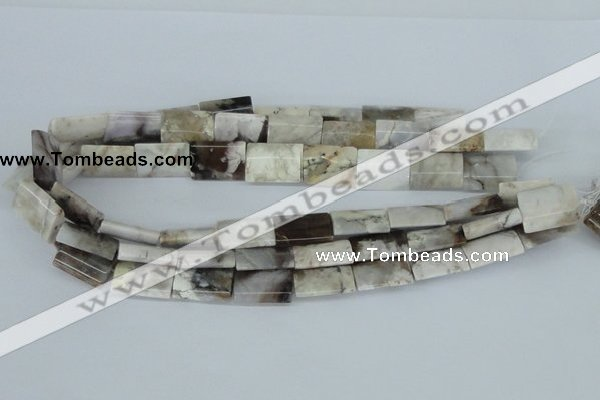 CAB115 15.5 inches 15*20mm flat column natural brazil agate beads