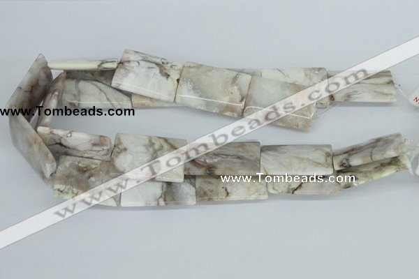 CAB117 15.5 inches 25*35mm flat column natural brazil agate beads
