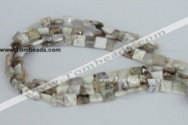 CAB118 15.5 inches 12*12mm square natural brazil agate gemstone beads