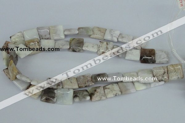 CAB119 15.5 inches 16*16mm square natural brazil agate gemstone beads