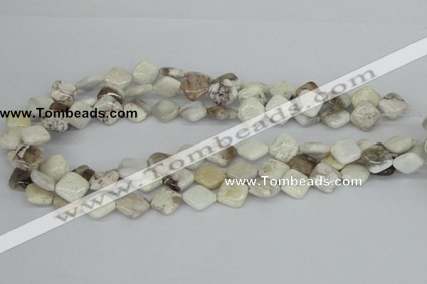 CAB121 15.5 inches 12*12mm diamond natural brazil agate beads