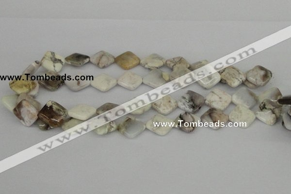 CAB122 15.5 inches 16*16mm diamond natural brazil agate beads