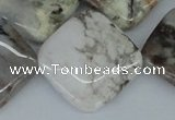 CAB123 15.5 inches 25*25mm diamond natural brazil agate beads