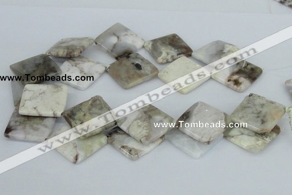 CAB124 15.5 inches 30*30mm diamond natural brazil agate beads