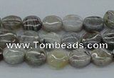 CAB146 15.5 inches 10mm flat round bamboo leaf agate beads