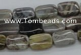 CAB157 15.5 inches 10*14mm rectangle bamboo leaf agate beads