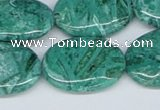 CAB172 15.5 inches 18*25mm oval green crazy lace agate beads