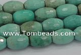 CAB20 15.5 inches 10*15mm faceted rice green grass agate beads