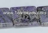 CAB211 15.5 inches 30*30mm square purple crazy lace agate beads