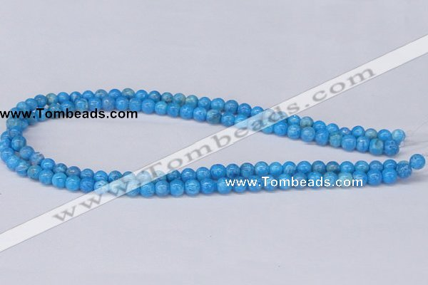 CAB220 15.5 inches 6mm round blue crazy lace agate beads
