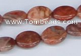 CAB239 15.5 inches 12*16mm oval mahogany crazy lace agate beads